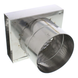 "5"" Z-Vent Single Wall Horizontal Wall Termination Box Product Image"