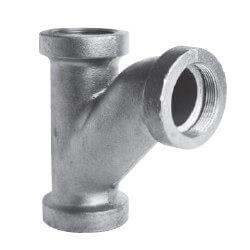 """2"""" Black Cast Iron Drainage 90° Long Turn Tee Wye Product Image"""