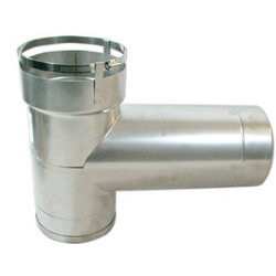 """3"""" Stainless Steel<br>Lock N' Go Base<br>Tee with 8"""" Branch Product Image"""