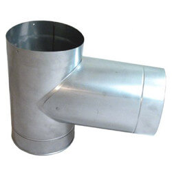 "9"" Stainless Steel Rigid Stacking Tee w/ Cap Product Image"