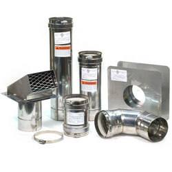 "4"" Z-Vent Water Heater Horizontal Vent Kit w/ Backflow"