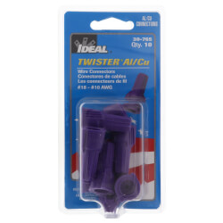 Twister® Al/Cu Wire Connectors, Purple<br>(Card of 10) Product Image