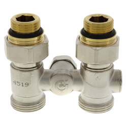 1-Pipe Straight Thermostatic Radiator Valve for Panel Radiators Product Image