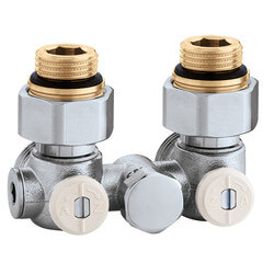 1-Pipe Angled Thermostatic Radiator Valve for Panel Radiators Product Image