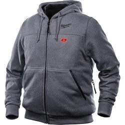 M12 Grey Heated Hoodie Only (Large) Product Image