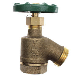 "3/4"" FIP x Hose<br>Brass Bent Nose Garden Valve (Lead Free) Product Image"