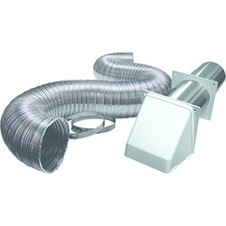 """4"""" x 5 Ft. Semi-Rigid Transition Duct Preferred Hood Kit (Brown) Product Image"""