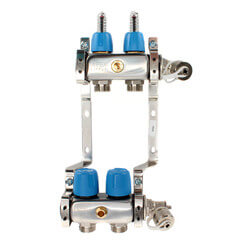 """2 Loop 1-1/4"""" Stainless Steel Manifold (Fully Assembled) Product Image"""