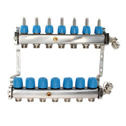 """7 Loop 1-1/4"""" Stainless Steel Manifold (Fully Assembled) Product Image"""