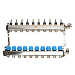 """10 Loop 1-1/4"""" Stainless Steel Manifold (Fully Assembled) Product Image"""