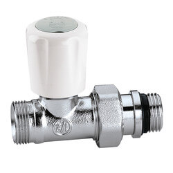 Straight Thermostatic Radiator Valve for Towel Warmer Style Radiators Product Image