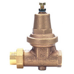"3/4"" CxC Single Union Tapped w/ Plug Pressure Reducing Valve, LF Product Image"