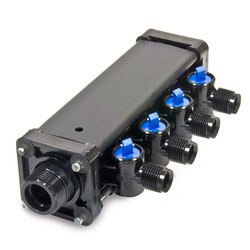 "3/8"", 4 Port Zero Lead Compression MINIBLOC"