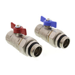 """Manifold Transition Ball Valve for 1.25"""" Manifolds, Straight (Box of 2) Product Image"""