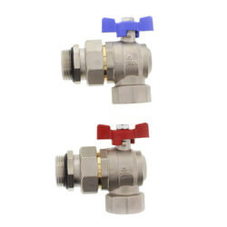 """Manifold Transition Ball Valve for 1.25"""" Manifolds, Angle (Box of 2) Product Image"""