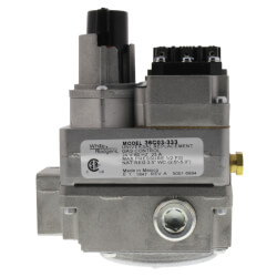 "1/2"" X 3/4"" Gas Valve, 24 VAC, Side Outlets Tapped And Plugged"