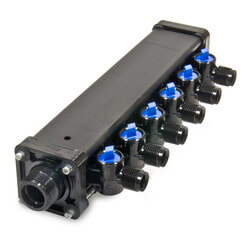 "1/2"", 6 Port Zero Lead Bronze PEX Press MINIBLOC"