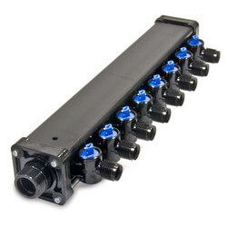 "1/2"", 8 Port Zero Lead Bronze PEX Press MINIBLOC"
