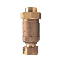 "3/8"" x 3/8"" Wilkins 700XL Dual Check Valve, Union FNPT x FNPT (Lead Free) Product Image"