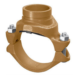 "8"" x 3"" 7046 Clamp-T with Grooved Branch Product Image"