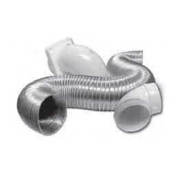 "4"" x 8 Ft. Flexible Aluminum Semi-Rigid Quick Fit Vent Kit Product Image"