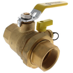 "1-1/2"" Threaded Pro-Pal Union Ball Valve w/<br>Hose Drain (Lead Free) Product Image"