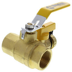 "1"" Threaded Pro-Pal Ball Valve w/ Hose Drain Product Image"