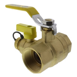 "1-1/4"" Threaded Pro-Pal Ball Valve w/ Hose Drain<br>(Lead Free) Product Image"