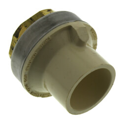 "3/4"" CTS CPVC Female Adapter w/ Gasket<br>(Socket x Brass FPT) Product Image"