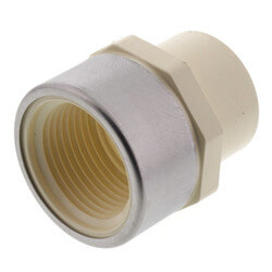 "1"" CTS CPVC Female Adapter w/ Reinforced SS Collar (Socket x FIPT) Product Image"