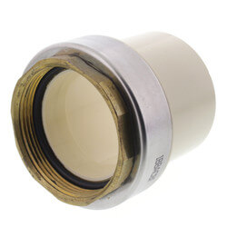 "2"" CTS CPVC Female Adapter w/ Gasket<br>(Socket x Brass FPT) Product Image"