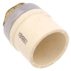 "1"" x 1/2"" CTS CPVC Female Adapter<br>(Socket x Brass FPT) Product Image"