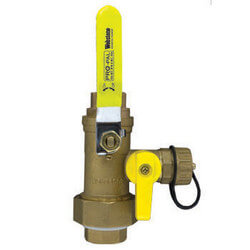"1"" Full Port Forged Brass Ball Valve w/ Hi-Flow Hose Drain & Reversible Handle, IPS Union x IPS"