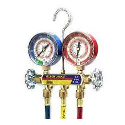 "Series 41 Manifold<br>w/ 3-1/8"" Gauges<br>(R22/R404/R410A) Product Image"