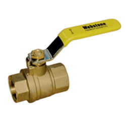 "1-1/4"" IPS Full Port Forged Brass Ball Valve"
