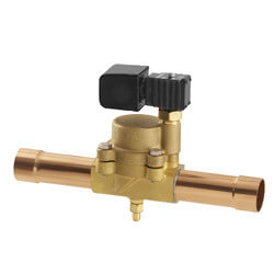 "1/4"" SAE R16F32 Normally Closed Refrigeration Solenoid Valve Product Image"