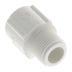 "1/2"" x 3/8"" PVC SCH 40 Male x Socket Adapter Product Image"