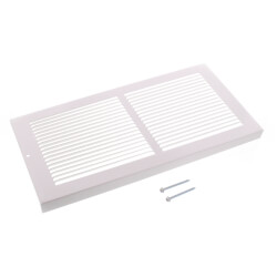 "14"" x 6"" White Baseboard Return Air Grille <br>(657 Series) Product Image"