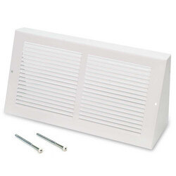 "12"" x 6"" White Baseboard Return Air Grille <br>(658 Series) Product Image"