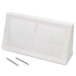 "14"" x 6"" White Baseboard Return Air Grille<br>(658 Series) Product Image"