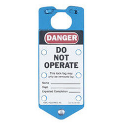 Labeled Safety Lockout Hasp, Blue (Card of 1) Product Image