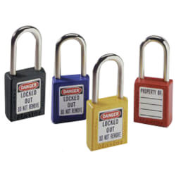 "Blue Safety Lockout Padlock w/ 1-1/2"" Shackle Clearance (Card of 1) Product Image"