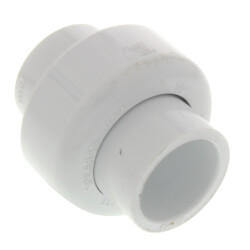 "1-1/4"" PVC Sch. 40 Socket Union w/ Buna-N O-ring"