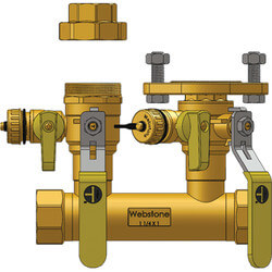 "1-1/2"" FIP x 1"" Hydro-Core Right Flange Manifold w/ 1"" IPS Union Product Image"