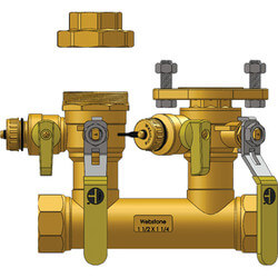 "1-1/2"" FIP x 1-1/4"" Hydro-Core Manifold w/ 1-1/4"" IPS Union Product Image"