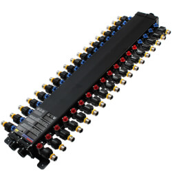"1/2"", 36 Port PEX Press Polymer MANABLOC <br>(14 hot, 22 cold) Product Image"