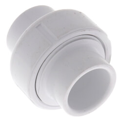 "3/4"" Sch. 40 PVC Socket Union w/ EPDM O-ring"