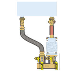 "1-1/2"" Sweat, Near Boiler Manifold & Piping Kit for WHN199 & WHN285 Product Image"