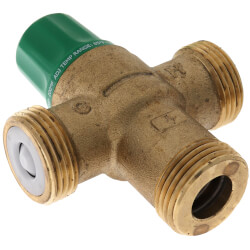 """1"""" PEX Union 5004 Heating Only Mixing Valve w/ Gauge Product Image"""