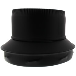 "8"" Black Stovepipe Adapter (TLCSPA Series)"